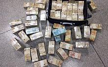 Dinheiro em espécie encontrado no carro onde estava o ex-comandante