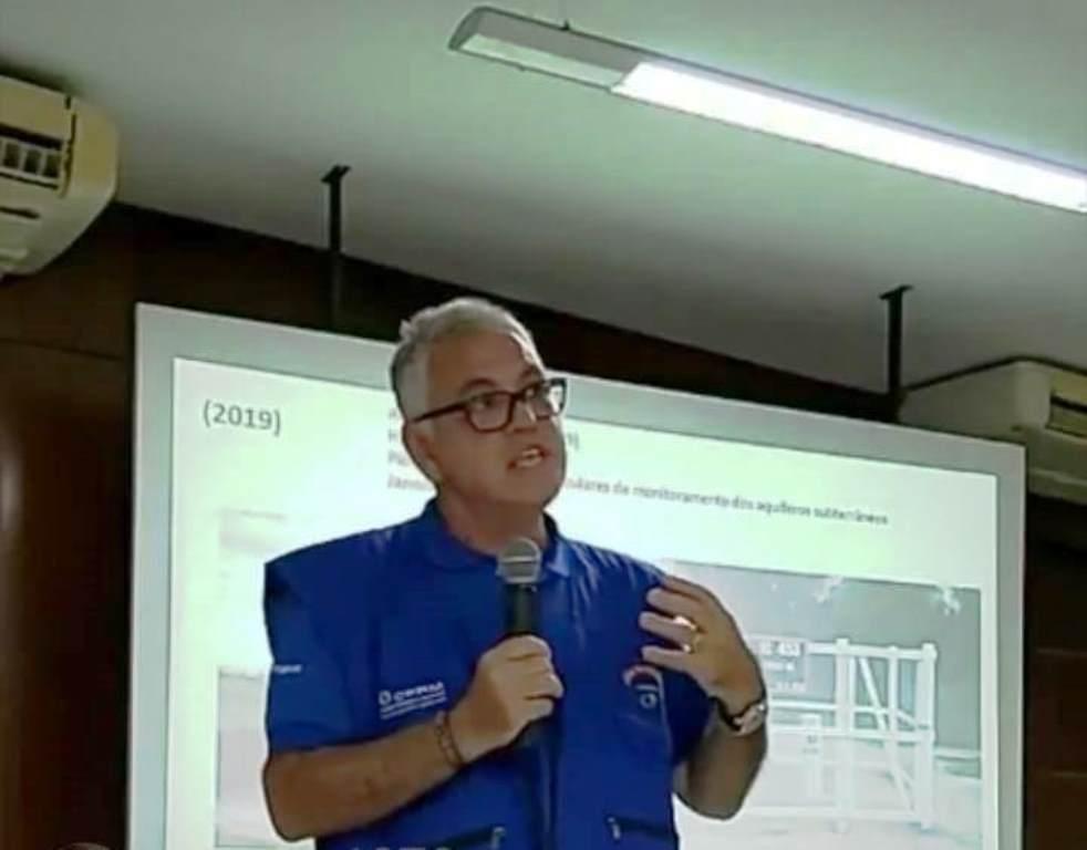 Geólogo explica sondagem que está sendo desenvolvida no Pinheiro