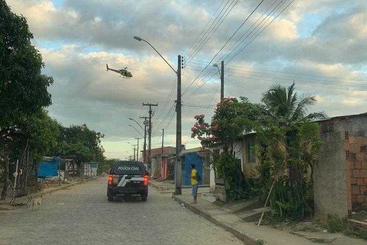 Operação teve apoio do Grupamento Aéreo da SSP